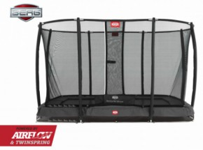 Trampoline BERG Ultim Champion InGround Grijs - met net Deluxe 330x220cm