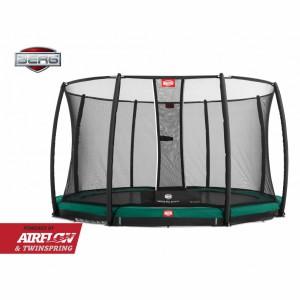 Trampoline BERG Champion 380 safety InGround Groen - met veiligheidsnet Deluxe 380cm