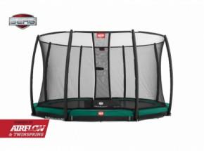 Trampoline BERG Champion 430 safety InGround Groen - met veiligheidsnet Deluxe 430cm
