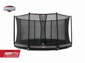 Trampoline BERG Champion 330 safety InGround Grijs - met net Comfort 330cm