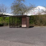 Kennel FERM Zwart Inclusief dak 1,5x3m