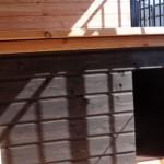 Hondenkennel FERM, met hondenhok Select 3 in douglas/zwart