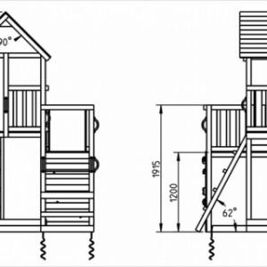 Speeltoestel hout - schetsje van het Penthouse