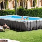 Zwembad Intex Ultra Frame Rectangular met zandfilterpomp en toebehoren 975x488x132 cm