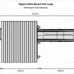 Oppervlakte afmetingen van speeltoren Beach Hut met glijbaan