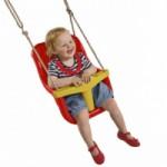 Babyschommelzitje Rood - met PP-touw