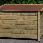 Hondenhok Select 3 achterkant, met een kijkje op het dak waarop uw hond lekker kan liggen