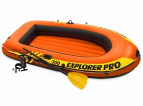 Intex opblaasboot Explorer Pro 300 Set met peddels en pomp 244x177x36 cm
