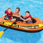 Intex opblaasboot Explorer Pro 200 Set met peddels en pomp 196x102x33 cm