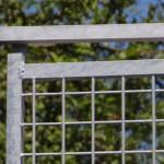 Draad kennelpaneel met deur 150x184cm