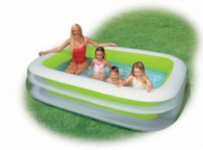 Opblaasbaar Familiezwembad Intex met 2 ringen 262x175x56 cm