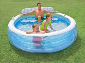 Zwembad Intex Family Lounge met opblaasbank 224x216x76 cm