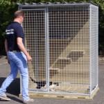 Kattenren van 150x100x190 cm (BxDxH)