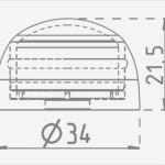 Afmetingen afdekdop Ø34 voor bouten Ø8-10mm, kleur: Rood