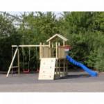 Speeltoestel Joas - Met glijbaan, schommelzitjes en klimwand - Geïmpregneerd hout