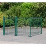 Afrastering Square Groen met voetplaten 200x200x123 cm
