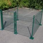 Hekwerk Square Groen met voetplaten 200x200x123 cm