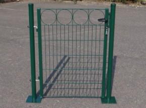 Poort Groen met voetplaten 100x125 cm