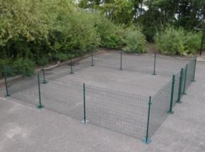 Afrastering Square Groen met voetplaten 600x600x123 cm